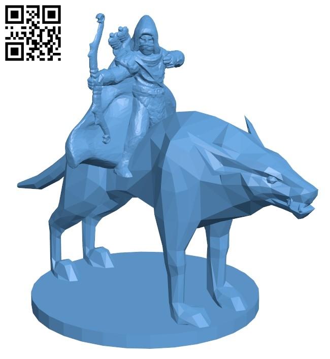 Mounted Ranger B009254 file obj free download 3D Model for CNC and 3d printer