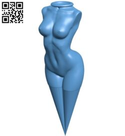 Naked Lady golf tee – women B009233 file obj free download 3D Model for CNC and 3d printer
