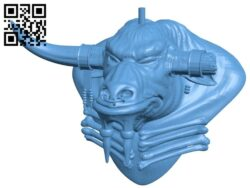 Niutouren – head B009305 file obj free download 3D Model for CNC and 3d printer
