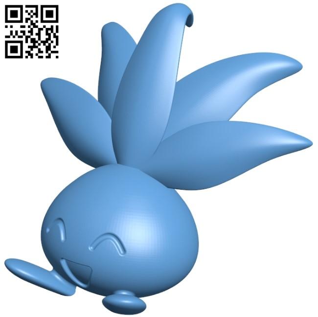 Oddish - pokemon B009256 file obj free download 3D Model for CNC and 3d printer