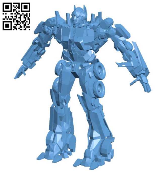Optimus Prime - robot B009266 file obj free download 3D Model for CNC and 3d printer