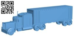 Painted truck B009271 file obj free download 3D Model for CNC and 3d printer