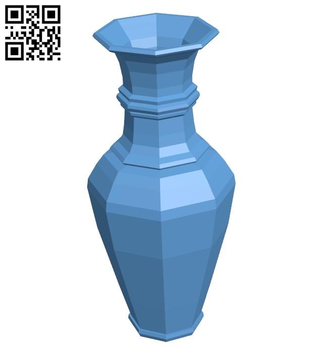 Painted vase B009284 file obj free download 3D Model for CNC and 3d printer