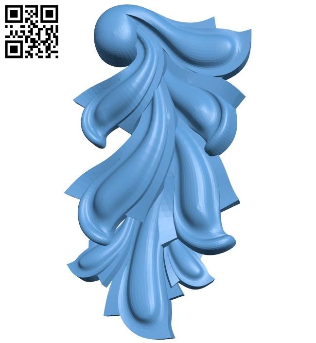 Pattern decor design A006202 download free stl files 3d model for CNC wood carving