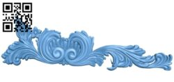 Pattern decor design A006207 download free stl files 3d model for CNC wood carving