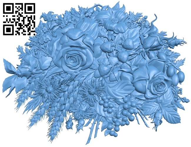 Pattern flower design A006170 download free stl files 3d model for CNC wood carving