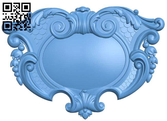 Pattern in the center A006182 download free stl files 3d model for CNC wood carving