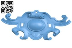 Pattern in the center A006183 download free stl files 3d model for CNC wood carving