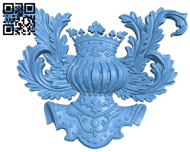 Pattern in the center A006188 download free stl files 3d model for CNC wood carving