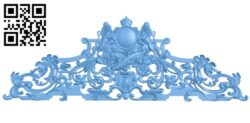 Pattern in the center A006189 download free stl files 3d model for CNC wood carving