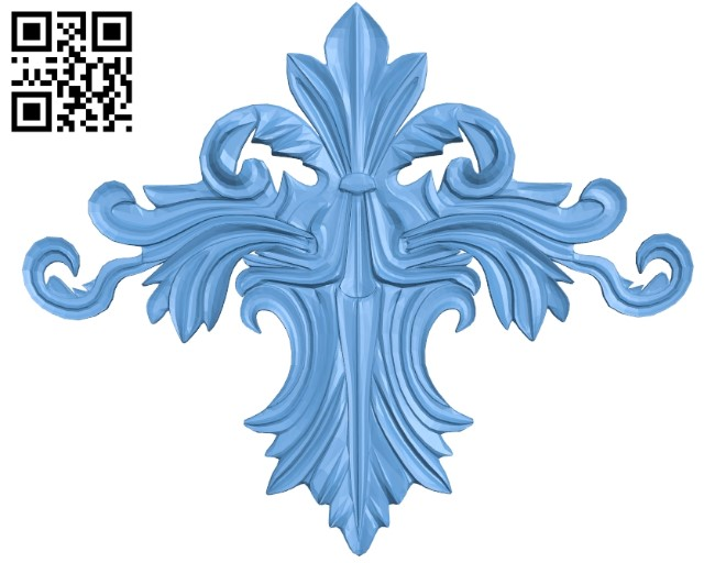 Pattern in the center A006229 download free stl files 3d model for CNC wood carving