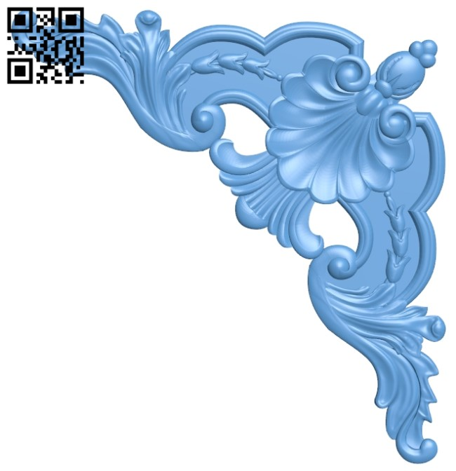 Pattern in the corner A006298 download free stl files 3d model for CNC wood carving