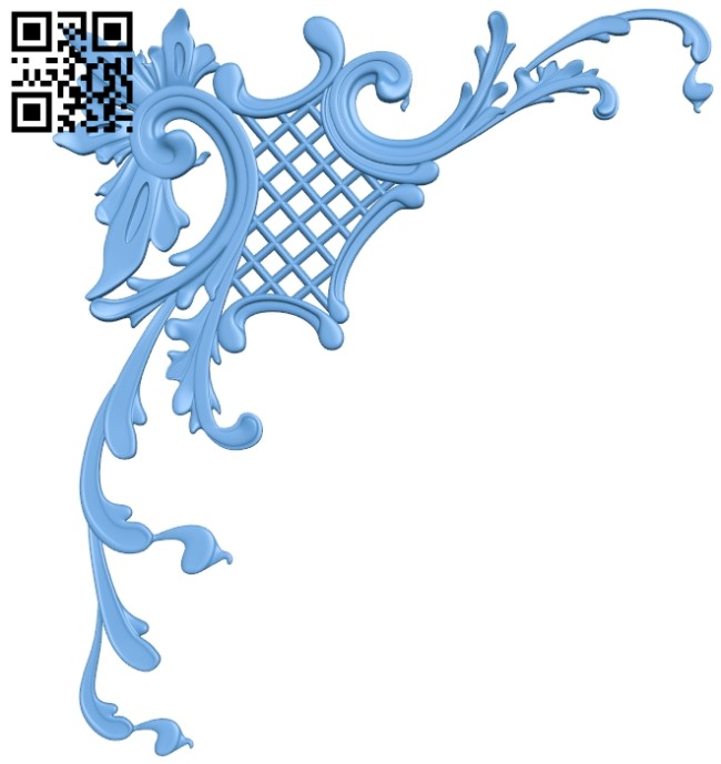 Pattern in the corner A006299 download free stl files 3d model for CNC wood carving