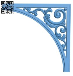 Pattern in the corner A006304 download free stl files 3d model for CNC wood carving