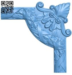 Pattern in the corner A006305 download free stl files 3d model for CNC wood carving