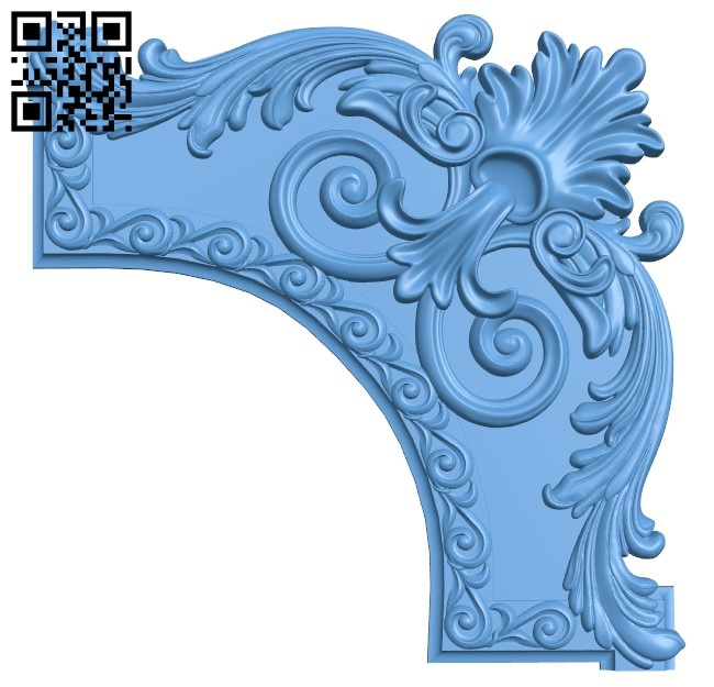 Pattern in the corner A006307 download free stl files 3d model for CNC wood carving
