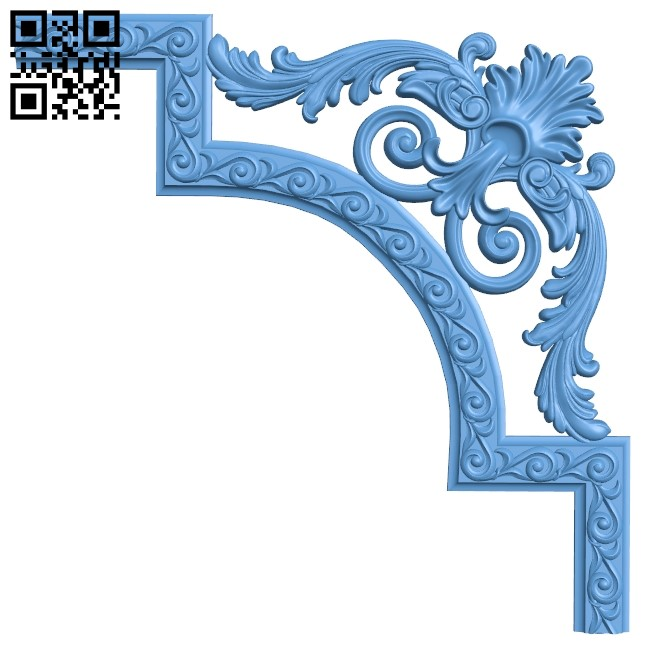 Pattern in the corner A006308 download free stl files 3d model for CNC wood carving