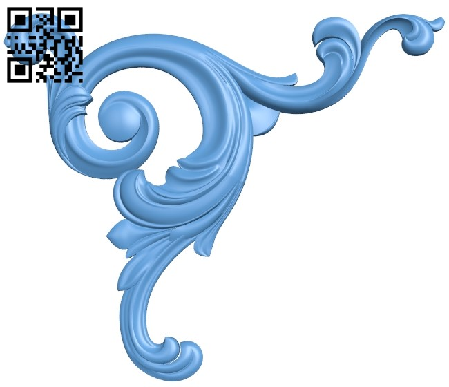 Pattern in the corner A006309 download free stl files 3d model for CNC wood carving