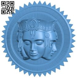 Pattern of human face A006220 download free stl files 3d model for CNC wood carving