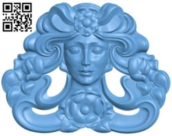 Pattern of human face A006222 download free stl files 3d model for CNC wood carving
