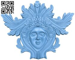 Pattern of human face A006225 download free stl files 3d model for CNC wood carving