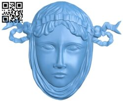 Pattern of human face A006226 download free stl files 3d model for CNC wood carving
