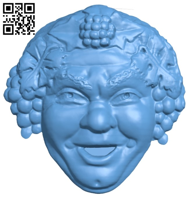 Pattern of human face A006227 download free stl files 3d model for CNC wood carving