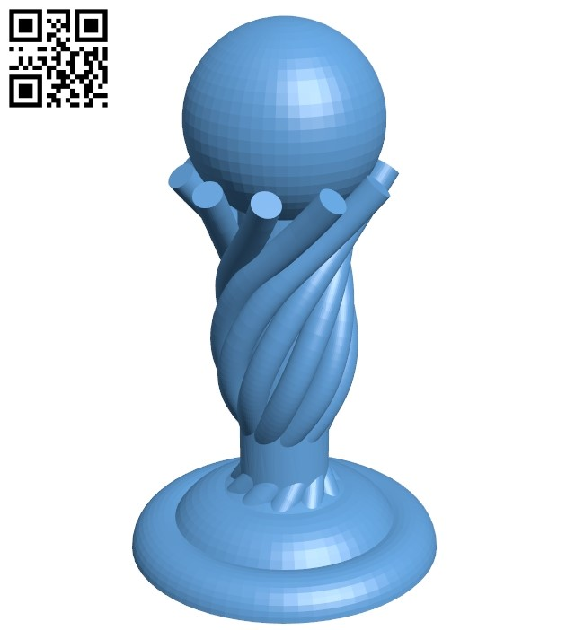 Pawn - chess B009244 file obj free download 3D Model for CNC and 3d printer