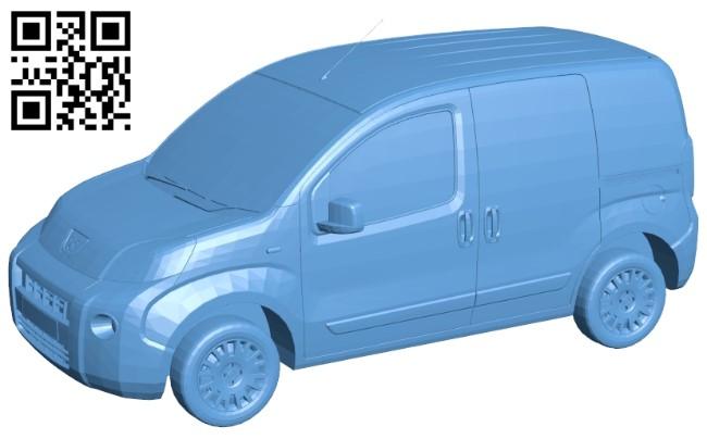 Peugeot truck B009344 file obj free download 3D Model for CNC and 3d printer
