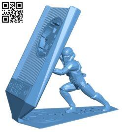Phone holder – smartphone B009223 file obj free download 3D Model for CNC and 3d printer