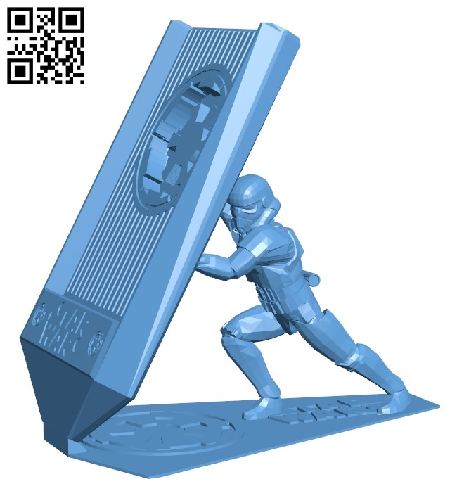 Phone holder - smartphone B009223 file obj free download 3D Model for CNC and 3d printer