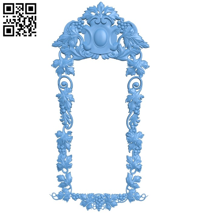 Picture frame or mirror A006200 download free stl files 3d model for CNC wood carving