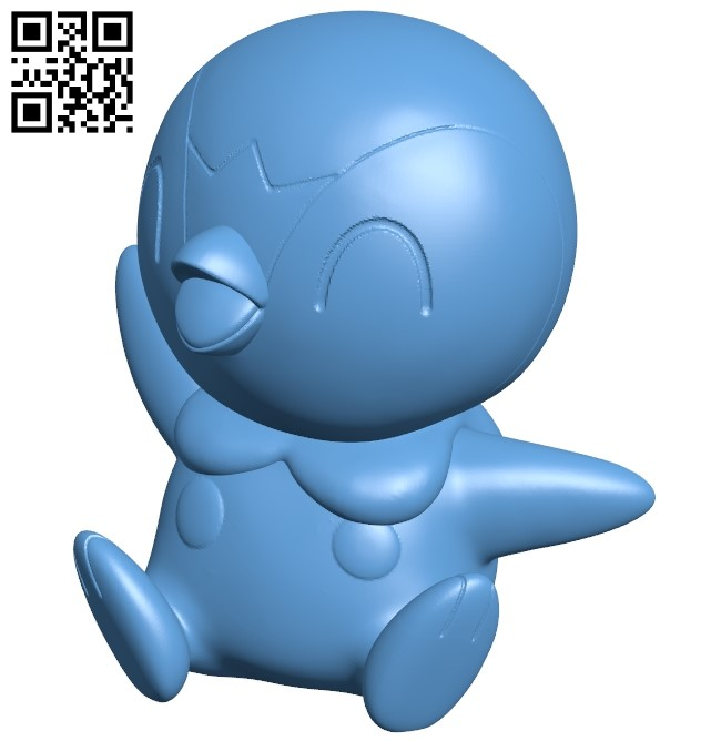 Piplup - Pokemon B009342 file obj free download 3D Model for CNC and 3d printer