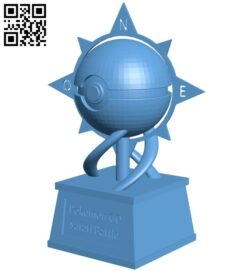 Poke ball cup – pokemon B009287 file obj free download 3D Model for CNC and 3d printer