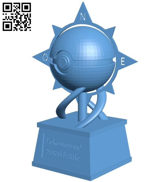 Poke ball cup - pokemon B009287 file obj free download 3D Model for CNC and 3d printer