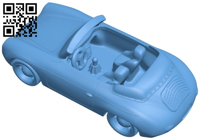 Porsche 1964 - car B009294 file obj free download 3D Model for CNC and 3d printer