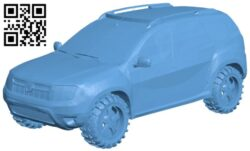Powerful SUV – car B009303 file obj free download 3D Model for CNC and 3d printer