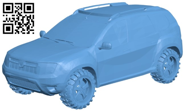 Powerful SUV - car B009303 file obj free download 3D Model for CNC and 3d printer