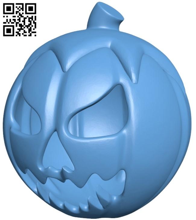 Pumpkin B009302 file obj free download 3D Model for CNC and 3d printer