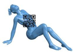 Punky Lean – women B009317 file obj free download 3D Model for CNC and 3d printer