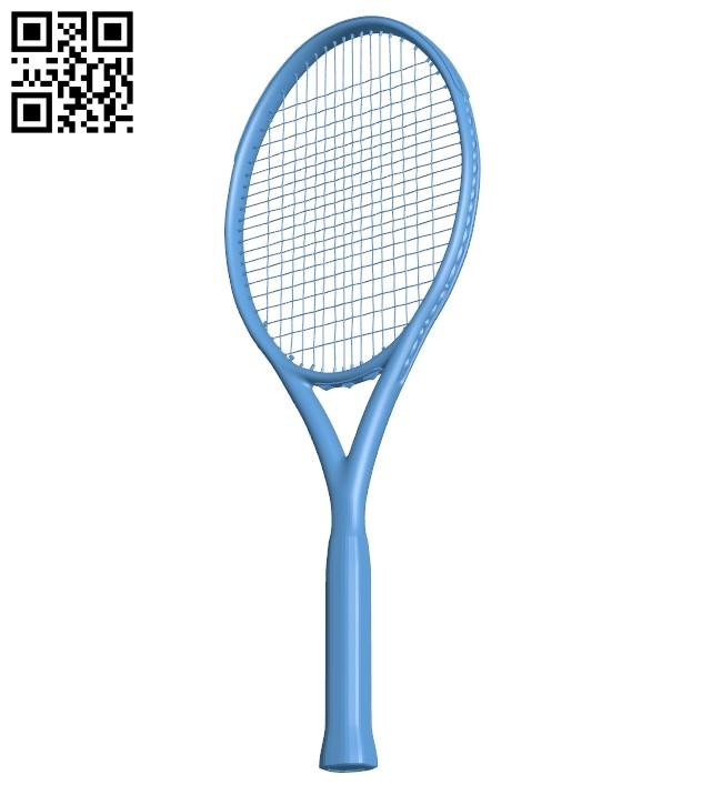 Racket tennis B009374 file obj free download 3D Model for CNC and 3d printer