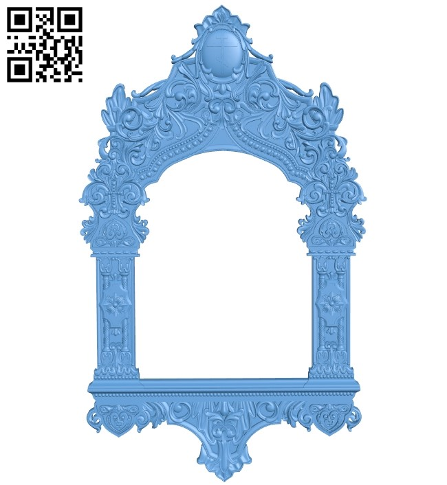 Religious picture frames or mirrors A006210 download free stl files 3d model for CNC wood carving