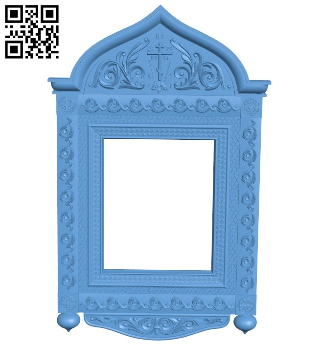 Religious picture frames or mirrors A006213 download free stl files 3d model for CNC wood carving