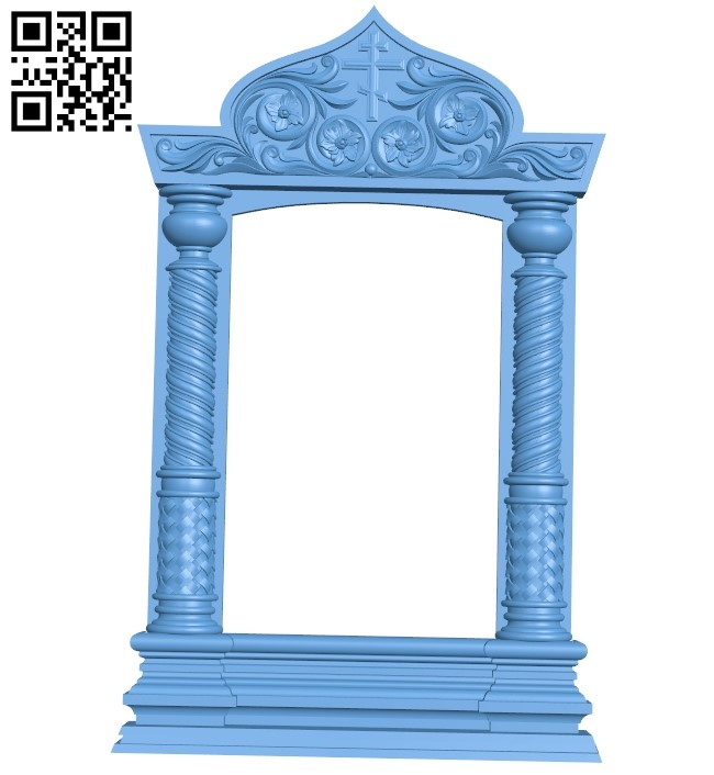 Religious picture frames or mirrors A006216 download free stl files 3d model for CNC wood carving