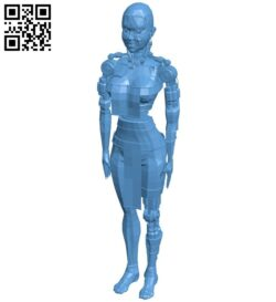 Robot female B009323 file obj free download 3D Model for CNC and 3d printer