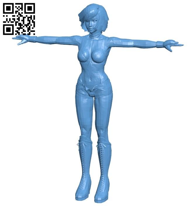 Rocker lady women B009355 file obj free download 3D Model for CNC and 3d printer