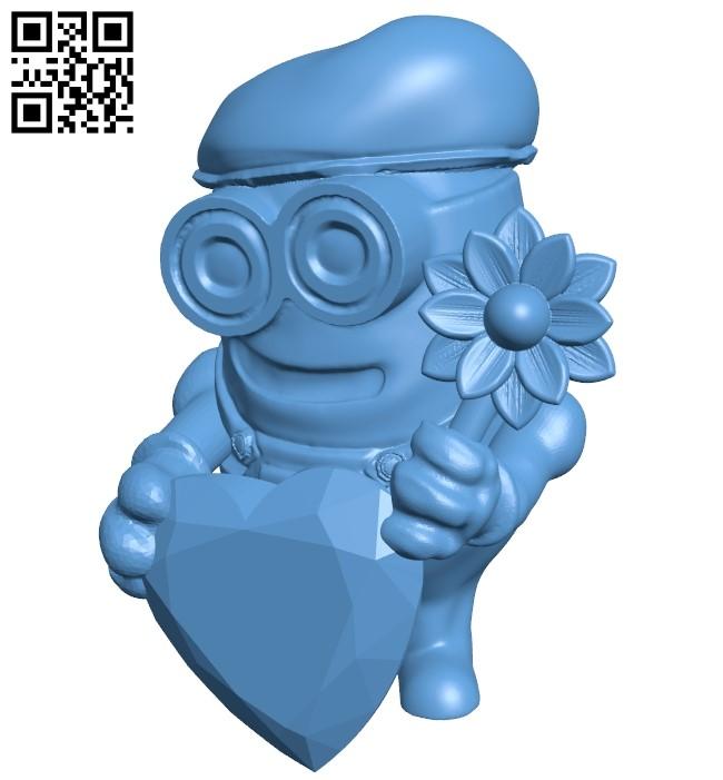 Romantic minion B009276 file obj free download 3D Model for CNC and 3d printer