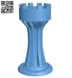 Rook – chess B009247 file obj free download 3D Model for CNC and 3d printer