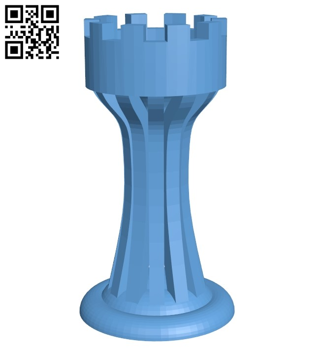 Rook - chess B009247 file obj free download 3D Model for CNC and 3d printer
