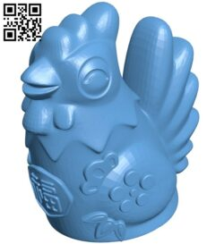 Rooster B009234 file obj free download 3D Model for CNC and 3d printer